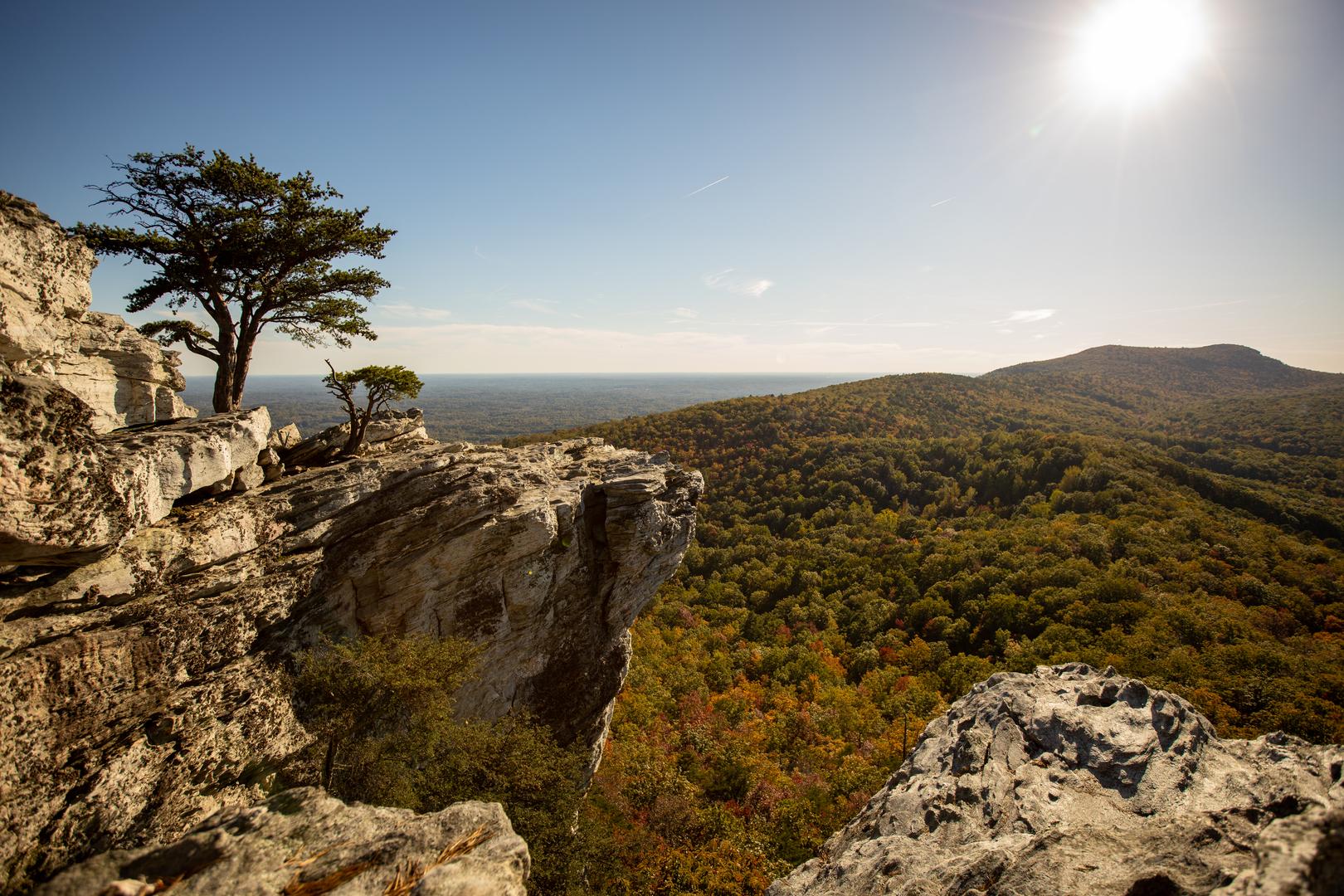 Hanging Rock State Park overlook Winston Salem NC