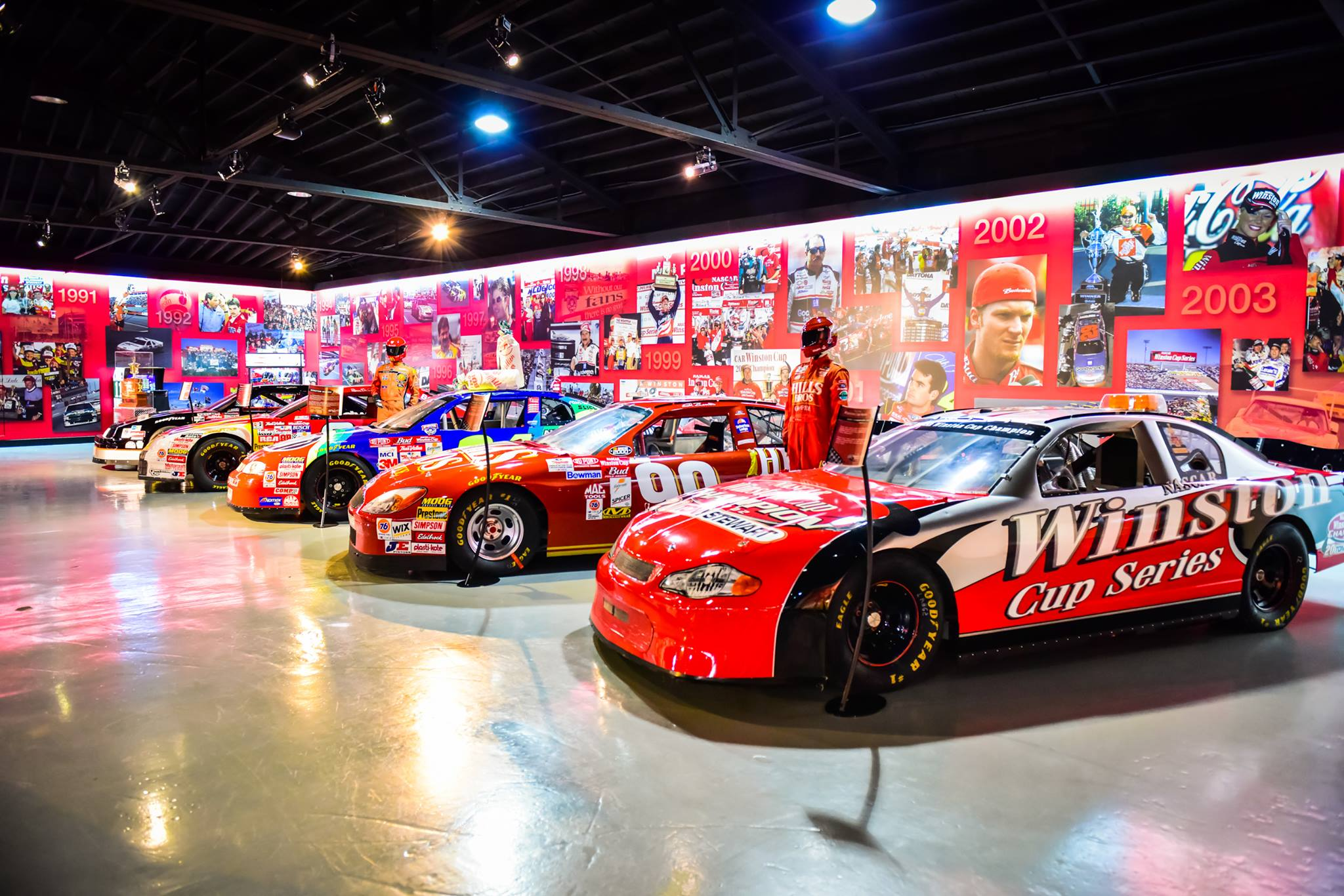 Cars in the Winston Cup Museum Winston Salem NC