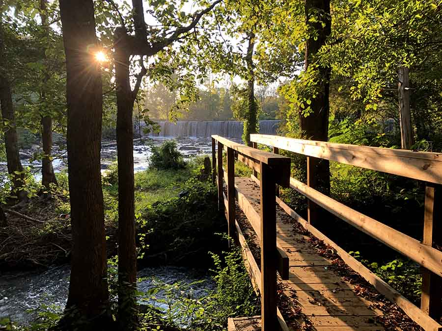 boardwalk on Haw River Trails in Glencoe NC