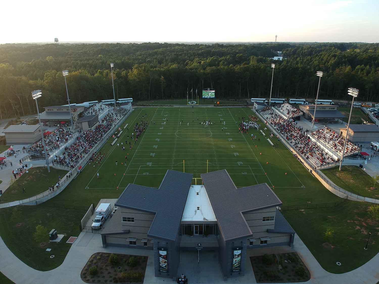 overhead view of Mecklenburg County Sportsplex